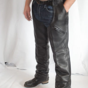 Mens 3 Pocket Leather Chaps
