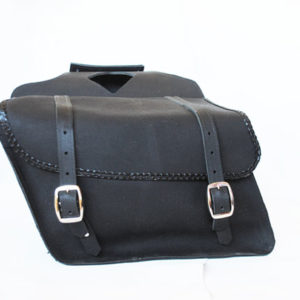 Braided Leather Saddlebag