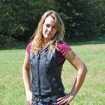 Ladies Reflective Leather Vest